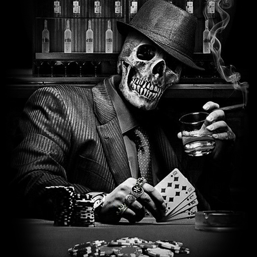 Poker Skull Wallpaper