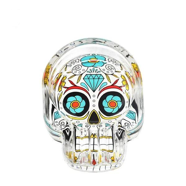 ashtray head of dead mexican sugar skulls accessory head of death