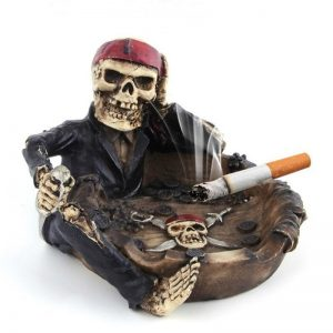 ashtray head of dead pirate accessory head of death