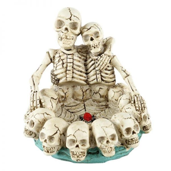 ashtray head of dead skeleton accessory head of death