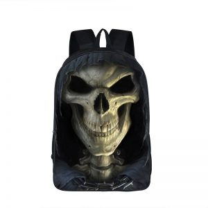 bag at back head of dead skull creepy skull kingdom