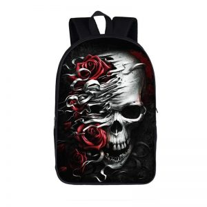bag at back head of dead skull flowery at sell