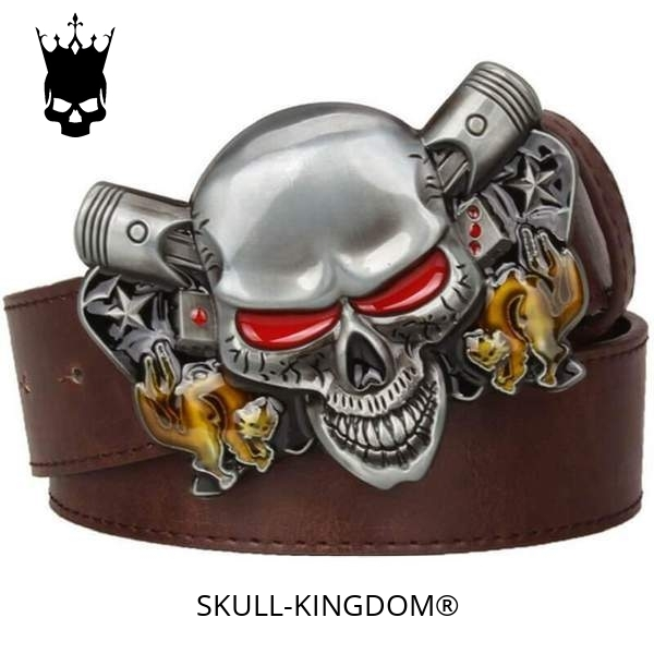 belt head of dead skull demonic brown buy