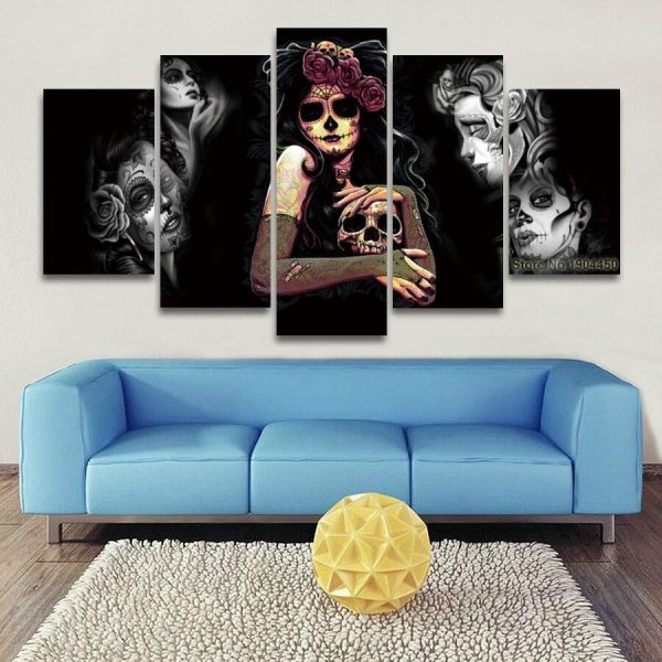board head of dead art gothic format xxl with frame