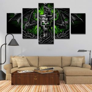 board head of dead dragon skull format xxl with frame not dear