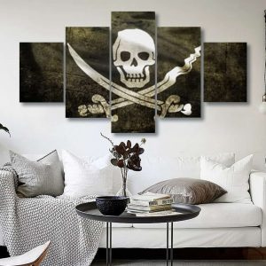 board head of dead flag pirate format xxl with frame not dear