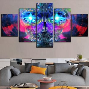 board head of dead illusion format xxl with frame decoration head of death