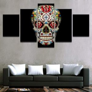 board head of dead mexican format xxl with frame skull kingdom