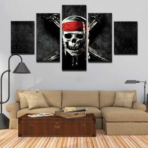 board head of dead pirate format xxl with frame decoration head of death
