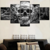 board head of dead skull death format xxl with frame skull kingdom
