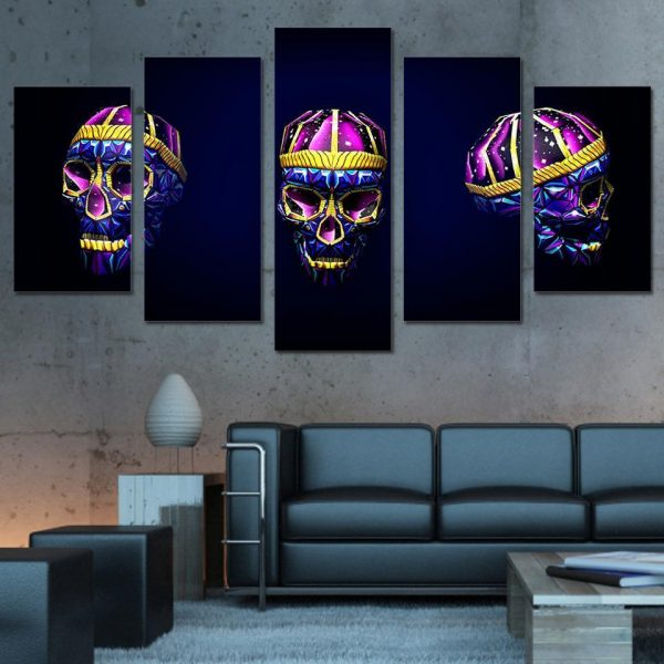 board head of dead skull design format xxl with frame at sell