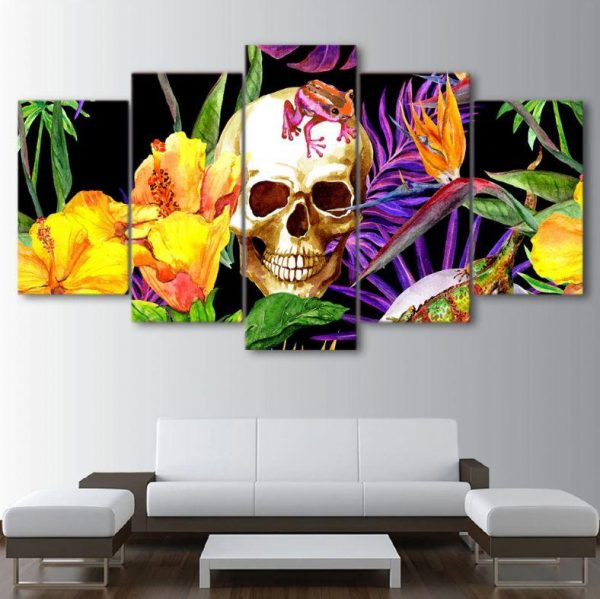 board head of dead skull smiling format xxl with frame price