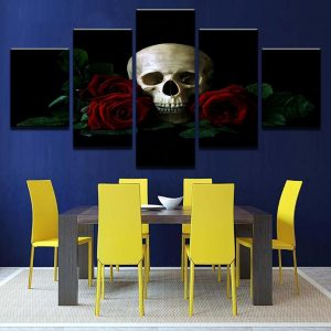 board head of dead the flowers of wrong format xxl with frame decoration head of death
