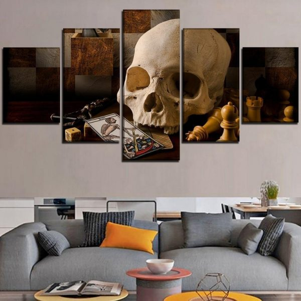 board head of dead theory of games format xxl with frame decoration head of death