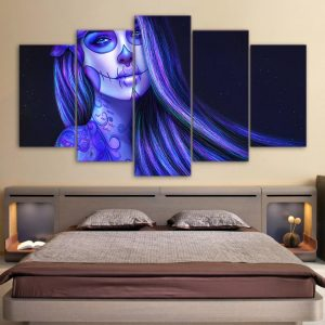 board head of dead women fatal format xxl with frame decoration head of death