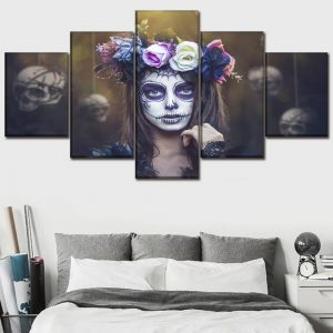 board head of dead women gothic format xxl with frame