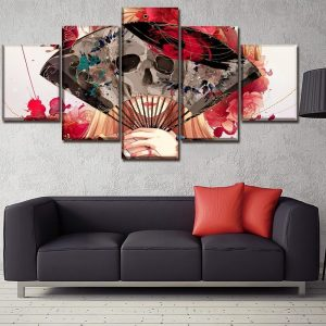 board head of dead women hidden format xxl with frame skull kingdom