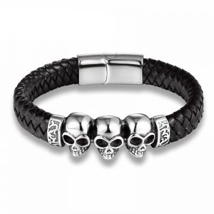 bracelet head of dead 3 skulls at sell