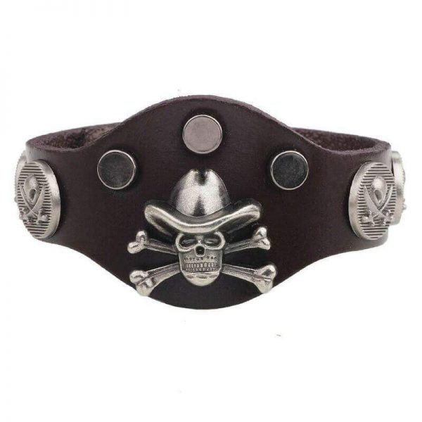 bracelet head of dead cowboy brown at sell