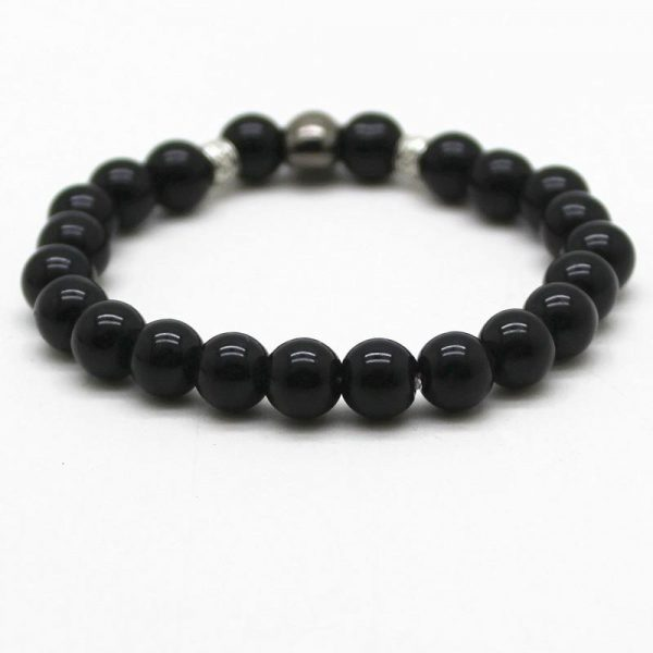 bracelet head of dead onyx black not dear