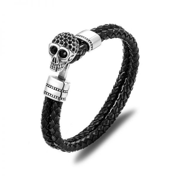 bracelet head of dead skull fancy red bracelet head of death