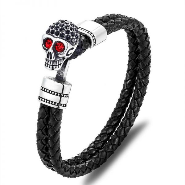 bracelet head of dead skull fancy red buy