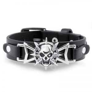 bracelet head of dead skull octogram jewel head of death