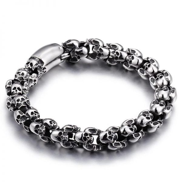 bracelet head of dead skull steel 25 cm jewel head of death