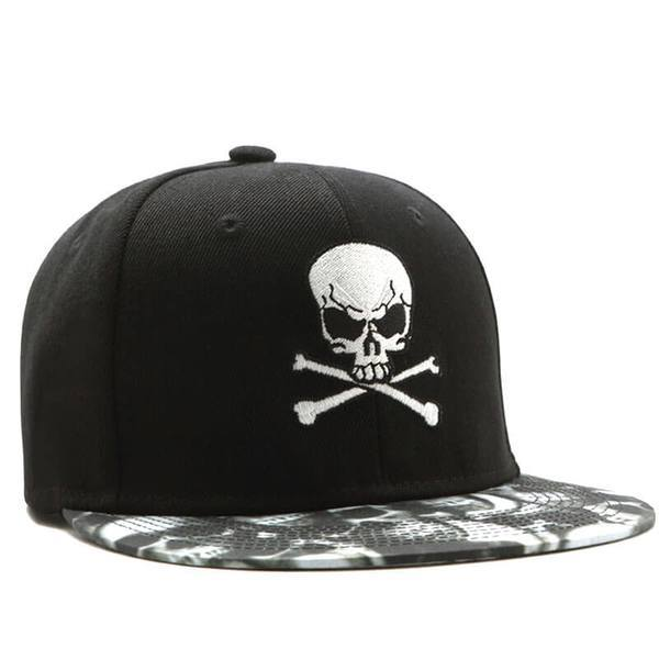 cap head of dead skull and bones clothes head of death