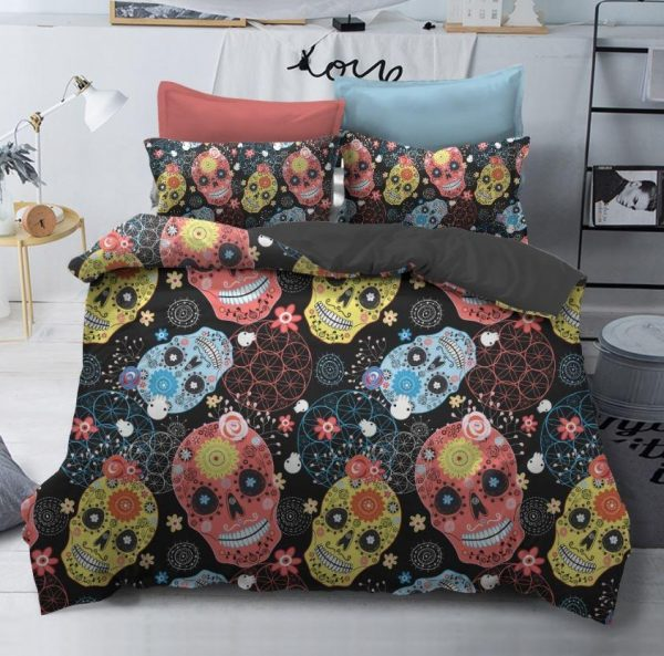cover of quilt head of dead calavera great king had 240x260cm skull kingdom