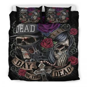 cover of quilt head of dead day of dead great king had 240x260cm skull kingdom