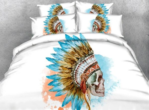 cover of quilt head of dead indian of america great king had 240x260cm buy