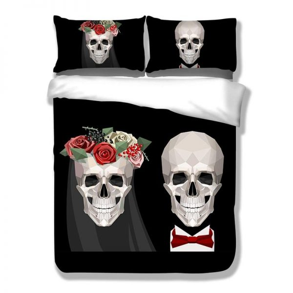 cover of quilt head of dead mr mrs skull smith great king had 240x260cm