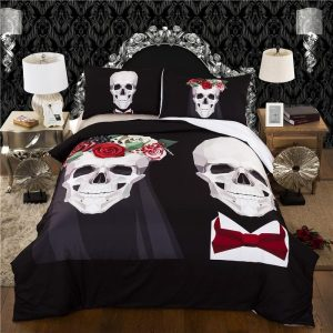 cover of quilt head of dead mr mrs skull smith great king had 240x260cm not dear