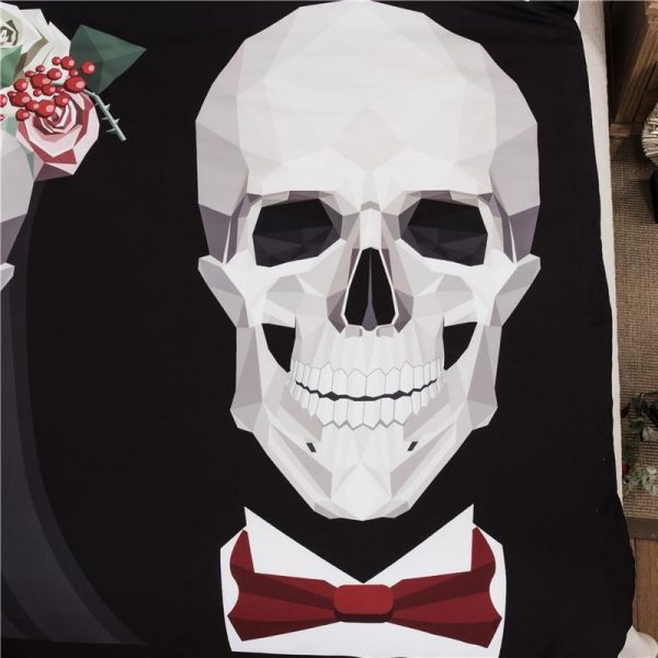 cover of quilt head of dead mr mrs skull smith great king had 240x260cm price