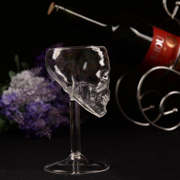 glass head of dead with foot