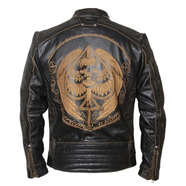 jacket head of dead as of spades leather xl skull kingdom