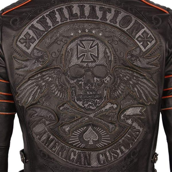 jacket head of dead mind biker leather xxl not dear