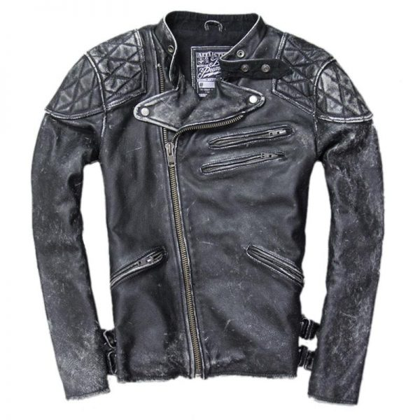 jacket head of dead skull and bones leather xl at sell