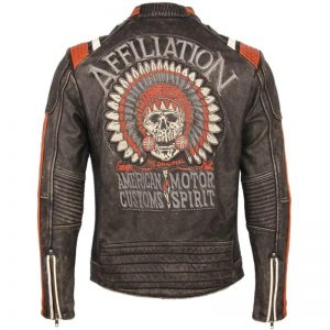 jacket head of dead style biker leather xxl not dear