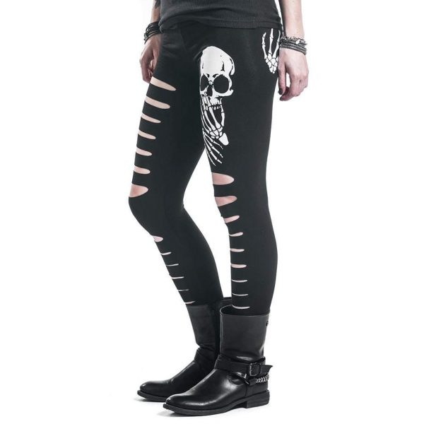 leggings head of dead holey xl buy