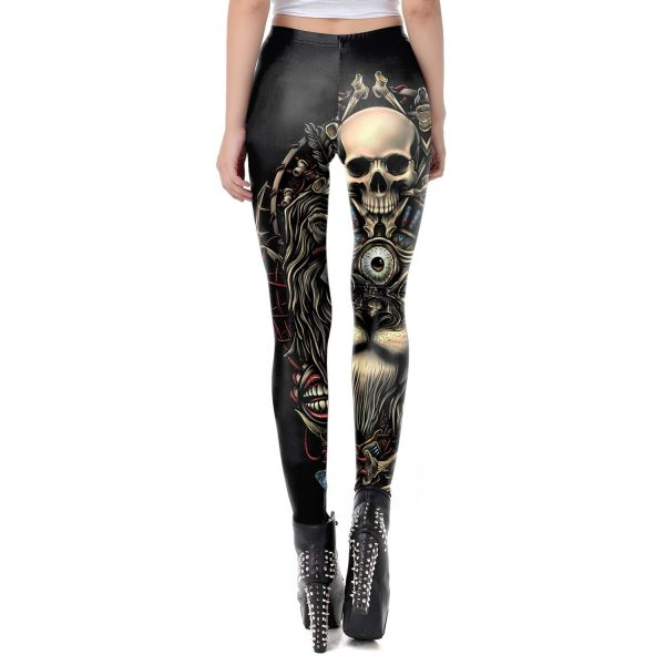 leggings head of dead rocker xl white at sell