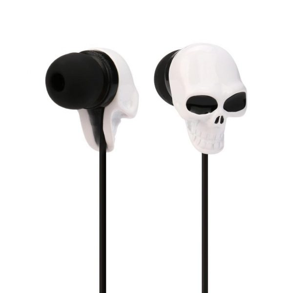 listeners head of dead intra auriculars white accessory head of death