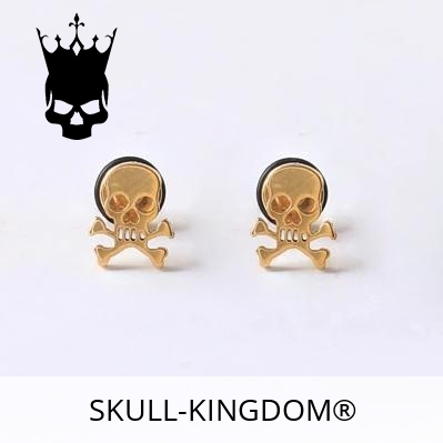 loops ears head of dead pirate gold skull kingdom