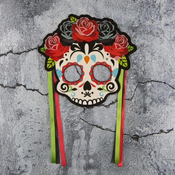 Skull mask day of the dead mexico
