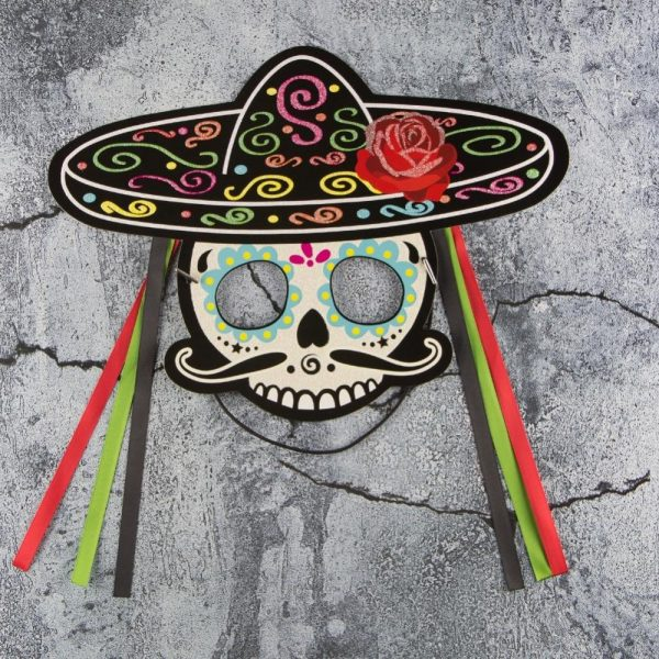 mask head of dead party of dead mexico skull kingdom