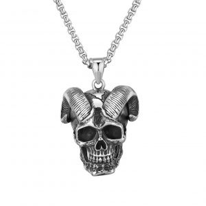 necklace head of dead baphomet price