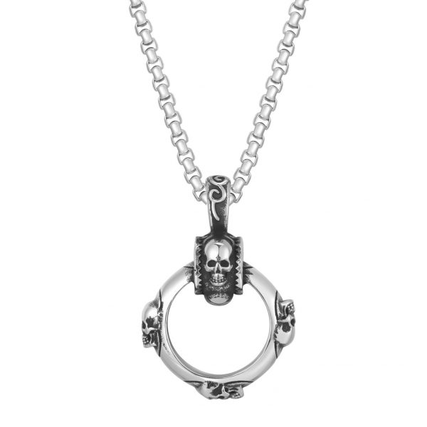 necklace head of dead circle of skull buy