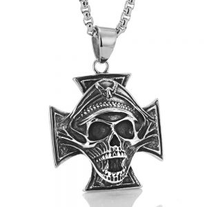 necklace head of dead cross of iron not dear