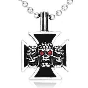 necklace head of dead cross of malta necklace head of death